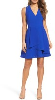 Adelyn Rae Women's Asymmetrical Crepe Fit & Flare Dress