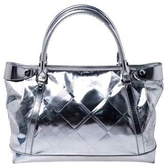 Burberry Silver Patent leather Handbags