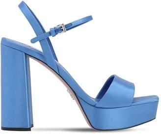 Prada 115mm Satin Platform Sandals
