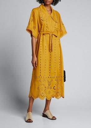 Vita Kin Charlotte Hand-Cut Embroidered Shirtdress