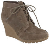 Mia Berdina Suede Lace-Up Wedge Boots