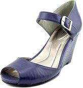 Style&Co. Style & Co Bessy Women US 6 Blue Peep Toe Wedge Heel