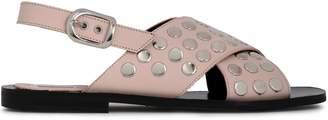 McQ Sundance Studded Leather Slingback Sandals