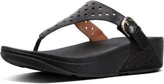 FitFlop Skinny Latticed Leather Toe-Post Sandals