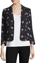Cinq à Sept Clothing Stardust Onyx Button-Front Blazer, Black/Multi