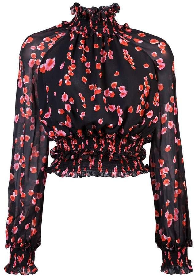 Giambattista Valli floral long-sleeve blouse