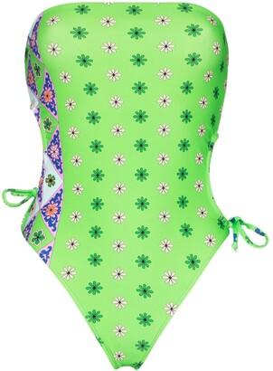 Frankie's Bikinis Fisher bandeau swimsuit