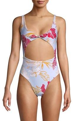 L-Space Kylie Floral Cutout One-Piece Swimsuit