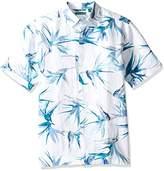 Cubavera Men's Short-Sleeve 100% Linen Allover Print Woven Shirt