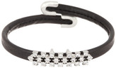 Natasha Accessories Mini Crystal Leather Cuff Bracelet
