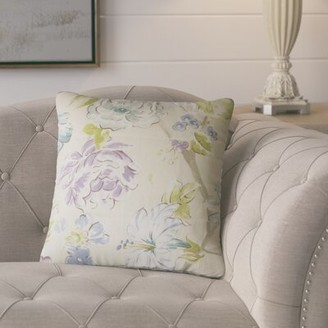 Barney Floral Throw Pillow One Allium Way Color: Blue/Green