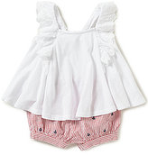 Ralph Lauren Baby Girls 3-24 Months Embroidered Jersey Top & Anchor-Embroidered Striped Shorts Set
