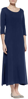 Joan Vass Interlock Easy Maxi Dress
