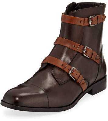 Donald J Pliner Men's Martino Triple-Strap Leather Boots