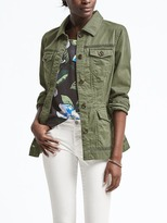 Banana Republic Eyelet Trim Military Jacket