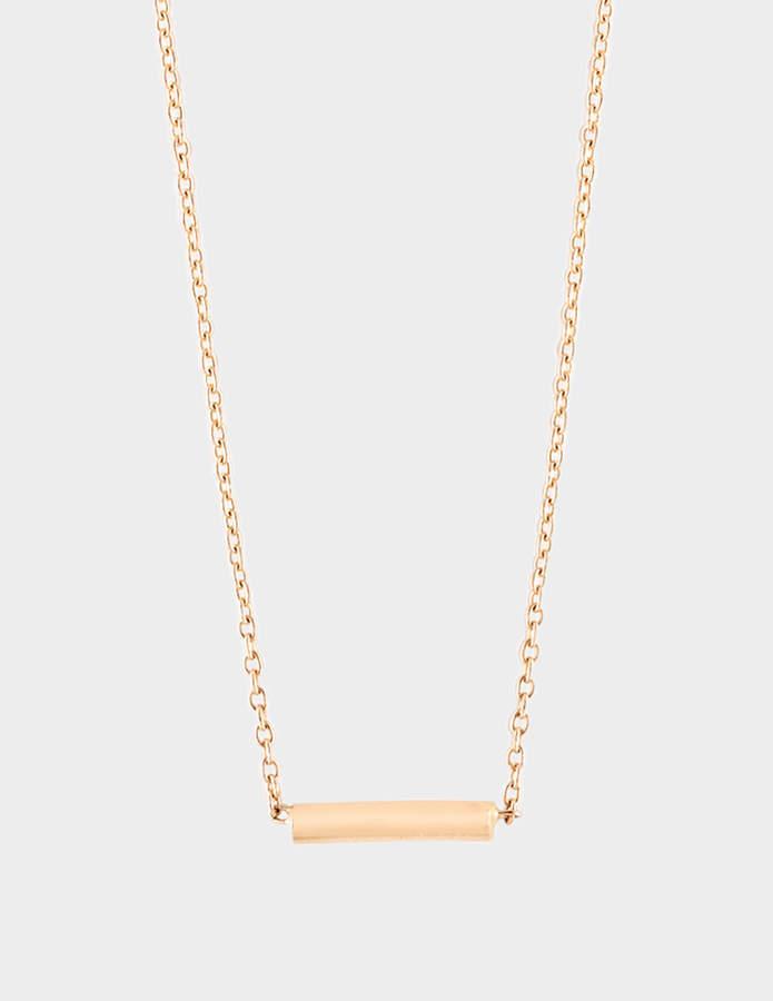 ginette_ny Gold Strip 18-karat rose gold necklace