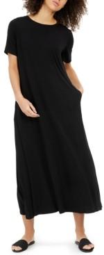 Eileen Fisher Crewneck Short-Sleeve Dress, Regular & Petite