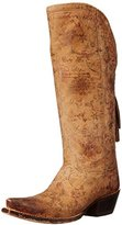 Lucchese Classics Women's Vera-Brown Floral Printed Tall Riding Boot