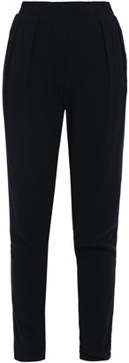 James Perse Cropped Crepe Tapered Pants
