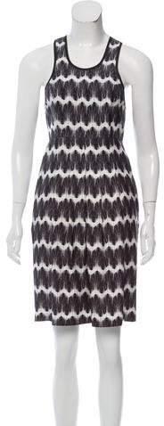 Thomas Wylde Abstract Print Silk Dress