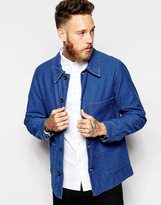 Nudie Jeans Nudie Worker Jacket Julius Slub Indigo Denim - Blue