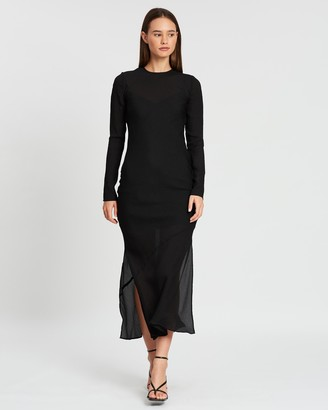 SIR the Label Indre Long Sleeve Midi Dress