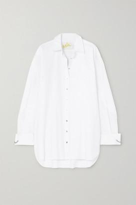 Marques Almeida Marques' Almeida - Oversized Cotton-jacquard Shirt - White