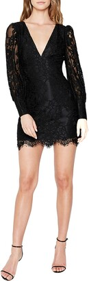 Bardot Anika Lace Long Sleeve Cocktail Minidress