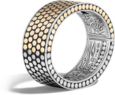 John Hardy Dot 22.5MM Hinged Bangle in Silver and 18K Gold