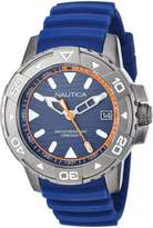 Nautica Men's 'EDGEWATER COLLECTION' Quartz Stainless Steel and Silicone Casual Watch, Color: (Model: NAPEGT003)