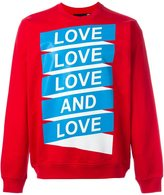 Love Moschino Love print sweatshirt
