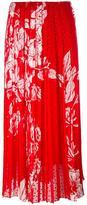 Fendi printed plumetis-chiffon maxi skirt - women - Silk/Viscose - 40