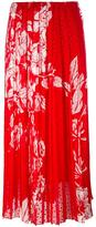 Fendi printed plumetis-chiffon maxi skirt