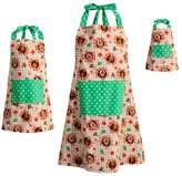 Dollie & Me Girls 4-16 & Women's Reversible Thanksgiving Turkey & Christmas Tree Apron Set