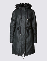 M&S Collection Pure Cotton Hooded Parka