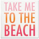 Sur La Table Take Me to the Beach Paper Cocktail Napkins, Set of 20