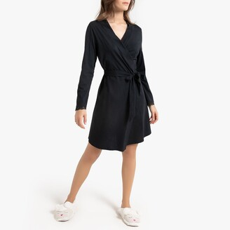 La Redoute Collections Cotton Long-Sleeved Bathrobe