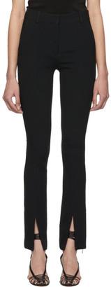 Victoria Beckham Black Front Split Skinny Trousers