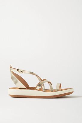 Ancient Greek Sandals Delia Metallic Leather Sandals - Gold