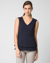 Le Château Stretch Twill Peplum Top