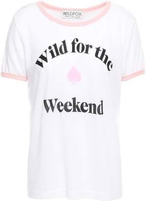 Wildfox Couture Cotton-blend Stretch-jersey T-shirt