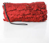 Marc by Marc Jacobs Red Knit Ruffle Wristlet Handbag