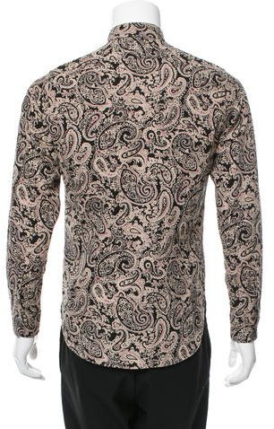 Saint Laurent Paisley Button-Up Shirt