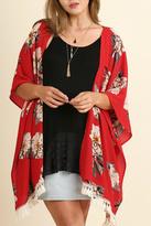 Umgee USA Red Floral Kimono