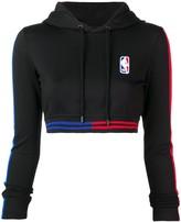 Marcelo Burlon County of Milan X NBA cropped hoodie