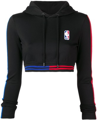 Marcelo Burlon County of Milan X NBA cropped hoodie