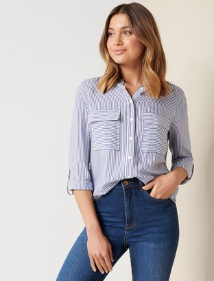 Ever New Adara Stripe Shirt