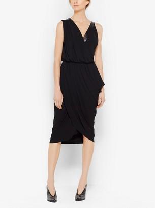 Michael Kors Asymmetrical Jersey and Plonge Dress