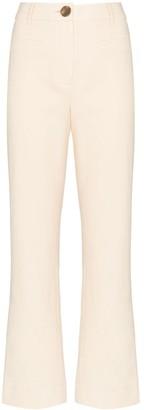 REJINA PYO high-rise kick-flare trousers