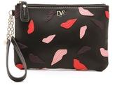 Diane von Furstenberg Lips Applique Wristlet